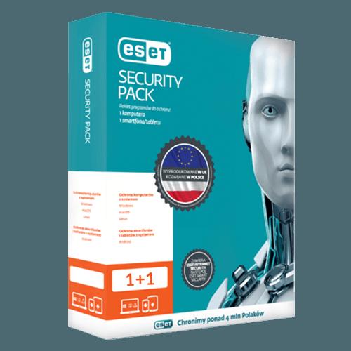 Eset Security Pack 1+1 2021 (Odnowienie licencji / 1 stanowisko / 3 lata)
