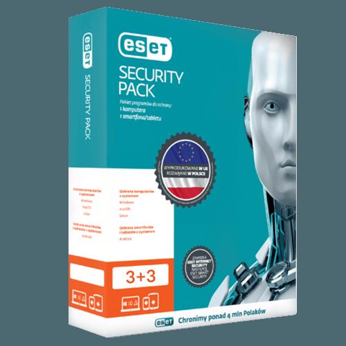 Eset Security Pack 3+3 (Nowa licencja / 3 komputery + 3 mobilne / 2 lata)