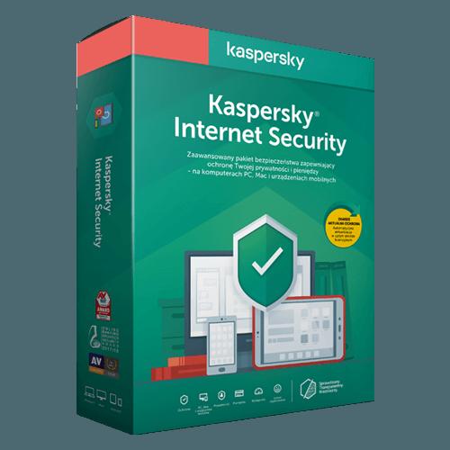 Kaspersky Internet Security 2021 (Odnowienie licencji / 3 stanowiska / 2 lata)