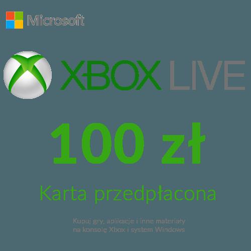 Xbox Live - Karta przedpłacona (100 zł)