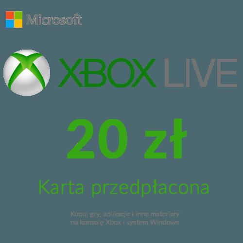 Xbox Live - Karta przedpłacona (20 zł)
