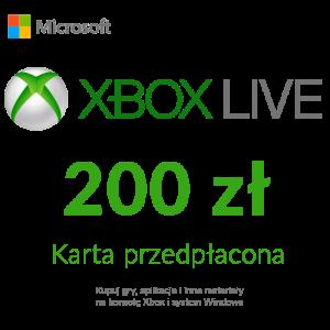 Xbox Live - Karta przedpłacona (200 zł)