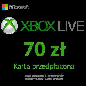 Xbox Live - Karta przedpłacona (70 zł)