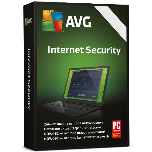 AVG Internet Security 2021  (Nowa licencja / 3 stanowiska / 2 lata)