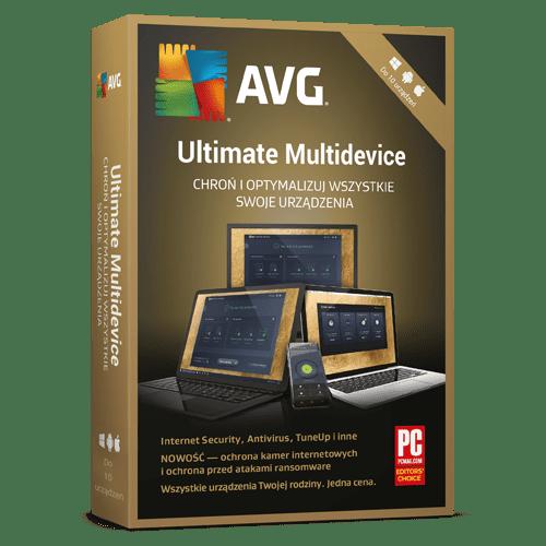 AVG Ultimate Multidevice 2021  (Nowa licencja / 10 stanowisk / 1 rok)