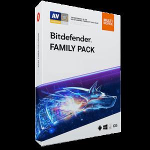Bitdefender Family Pack 2021 (Nowa licencja / bez limitu stanowisk / 1 rok)