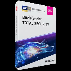 Bitdefender Total Security 2021 (Odnowienie licencji / 10 stanowisk / 1 rok)