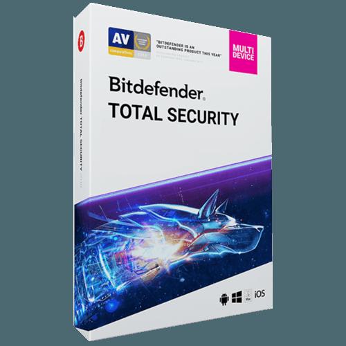 Bitdefender Total Security 2021 (Odnowienie licencji / 5 stanowisk / 2 lata)