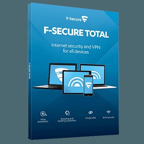 F-Secure TOTAL 2021  (Nowa licencja / 5 stanowisk / 1 rok)