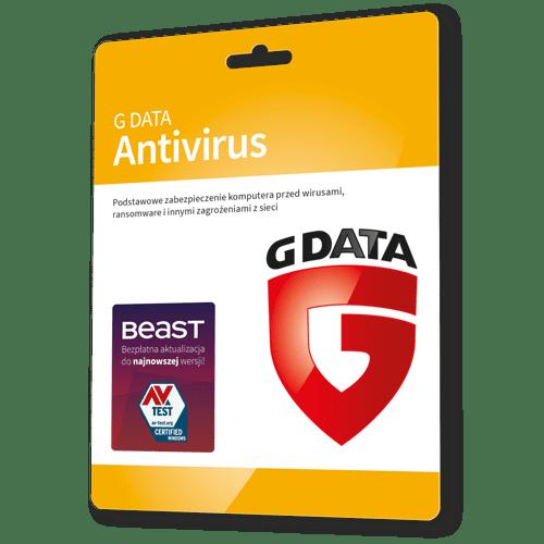 G data Antivirus 2021 (Nowa licencja / 3 stanowiska / 2 lata)