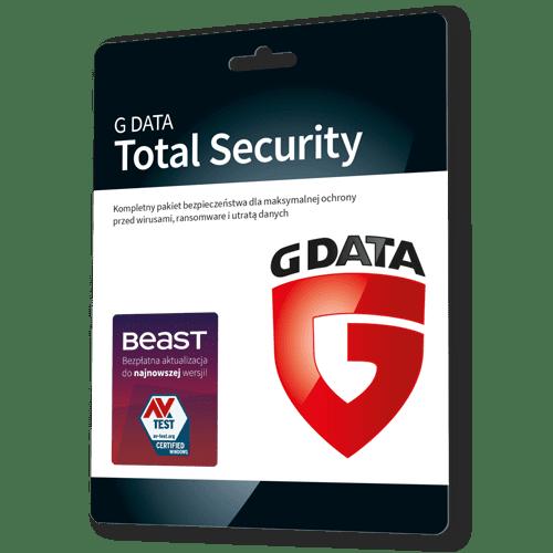 G data Total Security 2021 (Protection) (Nowa licencja / 2 stanowiska / 2 lata)