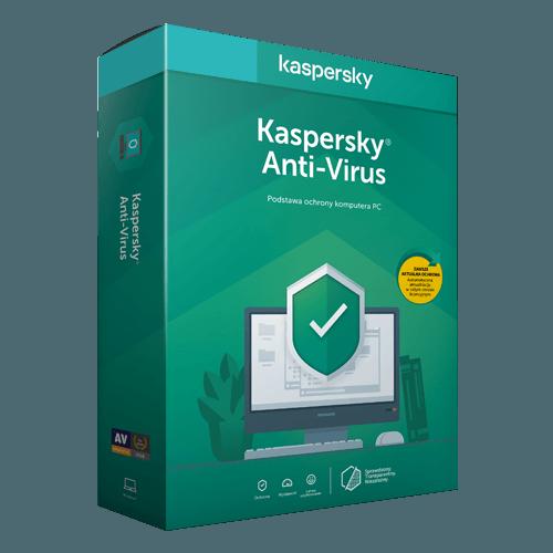 Kaspersky Anti-Virus 2021 (Nowa licencja / 2 stanowiska / 2 lata)