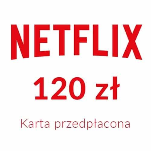 Netflix - Karta przedpłacona (120 zł)