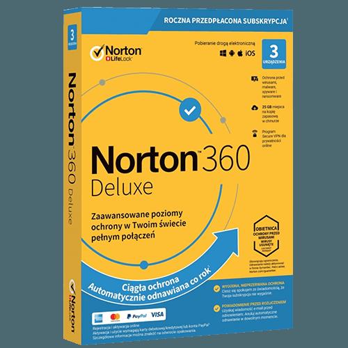 Norton 360 Deluxe 2021 (Nowa licencja / 3 stanowiska / 1 rok)