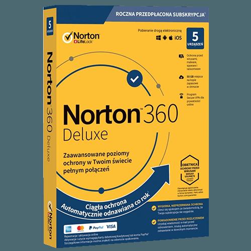 Norton 360 Deluxe 2021 (Nowa licencja / 5 stanowisk / 1 rok)
