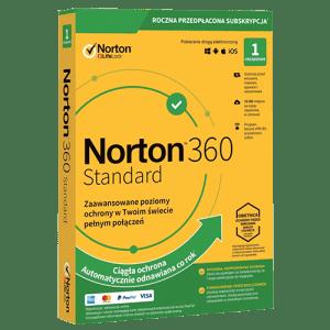 Norton 360 Standard 2021 (Nowa licencja / 1 stanowisko / 1 rok)