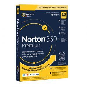 Norton 360 Premium 2021 (Nowa licencja / 10 stanowisk / 1 rok)