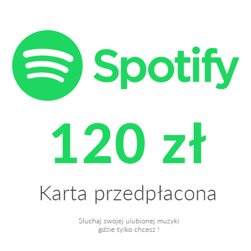 Spotify - Karta przedpłacona (120 zł)
