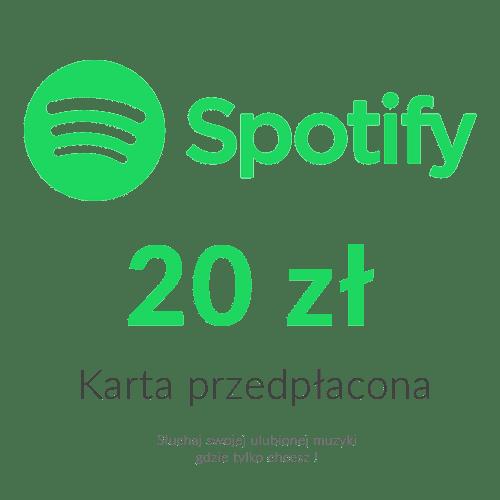 Spotify - Karta przedpłacona (20 zł)