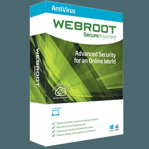 Webroot AntiVirus 2021 (Nowa licencja / 1 stanowisko / 1 rok)