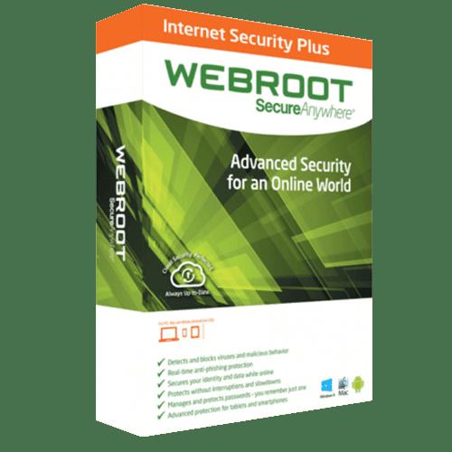 Webroot Internet Security 2021 (Nowa licencja / 1 stanowisko / 1 rok)