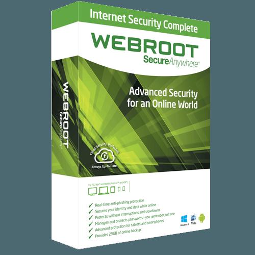 Webroot Complete 2021 (Nowa licencja / 3 stanowiska / 1 rok)