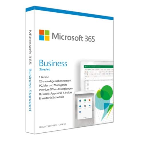 Microsoft Office 365 Business Standard (dawniej Business Premium)Win / Mac (Nowa licencja / 5 stanowisk / 1 rok)