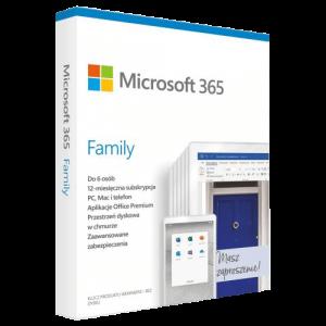Microsoft Office 365 Family Win / Mac (Nowa licencja / 6 stanowisk / 1 rok)