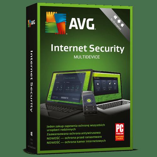 AVG Internet Security Multidevice 2021  (Nowa licencja / 10 stanowisk / 2 lata)