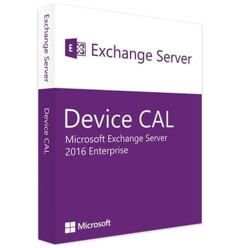 Microsoft Exchange Server 2016 Enterprise | 1 Device CAL (Nowa licencja / 1 stanowisko / Wieczysta)