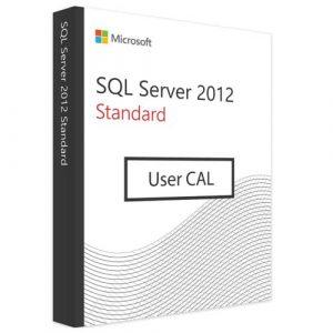 Microsoft SQL Server 2012 Standard | 1 User CAL (Nowa licencja / 1 stanowisko / Wieczysta)