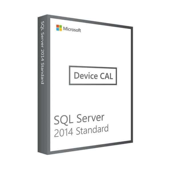 Microsoft SQL Server 2014 Standard | 10 Device CALs (Nowa licencja / 1 stanowisko / Wieczysta)