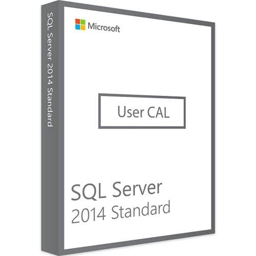 Microsoft SQL Server 2014 Standard | 10 User CALs (Nowa licencja / 1 stanowisko / Wieczysta)