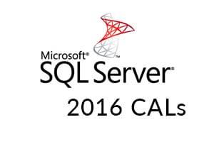 Microsoft SQL Server 2016 CALs