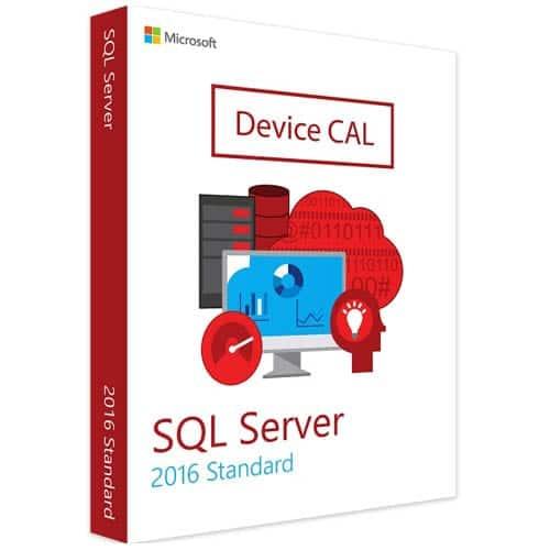 Microsoft SQL Server 2016 Standard | 1 Device CAL (Nowa licencja / 1 stanowisko / Wieczysta)