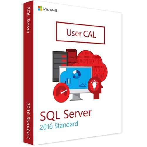 Microsoft SQL Server 2016 Standard | 1 User CAL (Nowa licencja / 1 stanowisko / Wieczysta)
