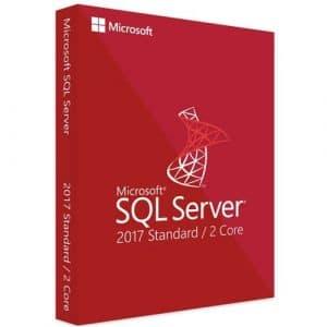 Microsoft SQL Server 2017 Standard (2 core) (Nowa licencja / 1 stanowisko / Wieczysta)