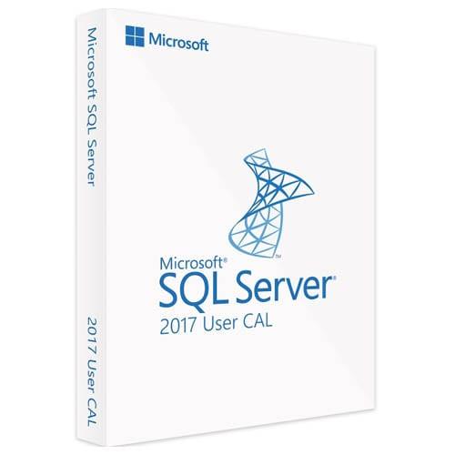 Microsoft SQL Server 2017 Standard | 1 User CAL (Nowa licencja / 1 stanowisko / Wieczysta)