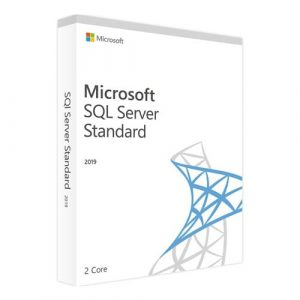 Microsoft SQL Server 2019 Standard (2 core) (Nowa licencja / 1 stanowisko / Wieczysta)