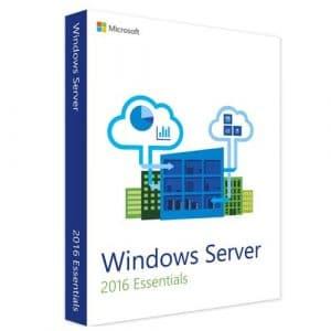 Windows Server 2016 Essentials  (Nowa licencja / 1 stanowisko / Wieczysta)